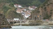 Stock Video Footage of Spain Asturias fishing village 1