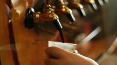 Beer Tap Stout Stock Footage