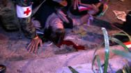 Stock Video Footage of Death Protesters BOMB wounded Grenade attack, April 4, 2010, Bangkok, Thailand