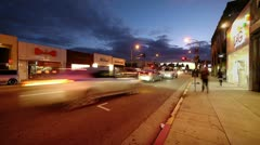 Melrose Avenue timelapse. Stock Footage