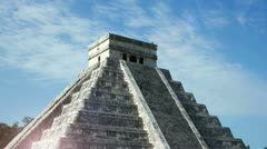 Mayan ruins mexico chichen itza Stock Footage