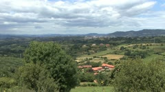 Spain Asturias countryside red tile village 1 c Stock Footage