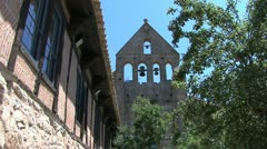 Spain Aragon Sos de Rey Catolico church bells Stock Footage