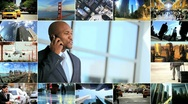 Stock Video Footage of Montage Business People Travel and Technology