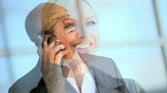 Montage Images Faces Business People Stock Footage
