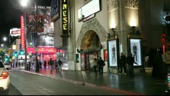 Chinese theatre on Hollywood boulvard Stock Footage