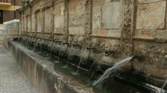 Spain Aragon Daroca fountain of twenty pipes Stock Footage