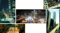 Stock Video Footage of Multiple Images Inner City Traffic, USA