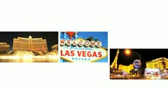 Montage images of Las Vegas, USA - stock footage