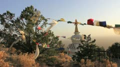 Stupa & Prayer Flags Crestone #1 Stock Footage