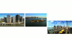 Montage City Scenes Landscapes New York, USA Stock Footage