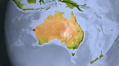 Australia, zooming into large view Stock Footage
