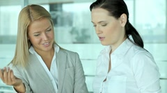 Female colleagues Stock Footage