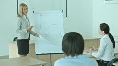 Business training - stock footage