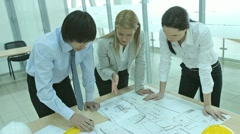 Team of architects Stock Footage