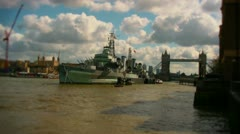 HMS Belfast Stock Footage