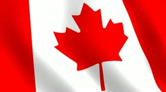 Canadian flag - stock footage