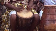 Stock Video Footage of Traditional African Dance Music with Drum in Ghana