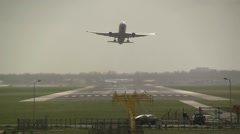 Airliner takes off - stock footage