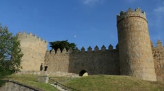 Spain Avila gate in walls Stock Footage