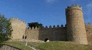 Spain Avila gate in walls Stock Footage