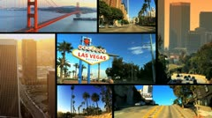 Montage Images of American Cites, USA Stock Footage