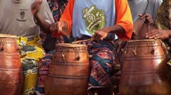 Traditional African Dance Music with Drum in Ghana - stock footage