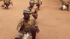 Traditional African Dance with Drum in Ghana - stock footage