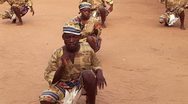 Stock Video Footage of Traditional African Dance with Drum in Ghana