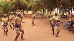 Traditional African Dance with Drum in Ghana Stock Footage