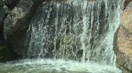 Stock Video Footage of Waterfall in sunny day