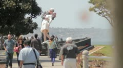Unconditional Surrender Statue Stock Footage