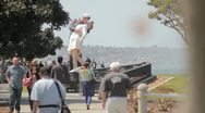 Stock Video Footage of Unconditional Surrender Statue