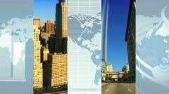 World Business Montage Images, New York, USA Stock Footage
