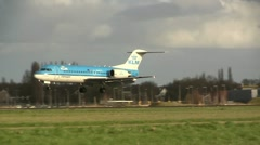 KLM Afternoon landing - stock footage