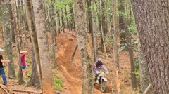 Motocross dirt bike racing 27 Stock Footage