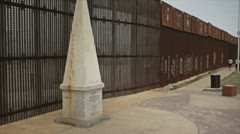 Us Mex Border Stock Footage