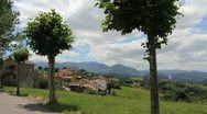Stock Video Footage of Spain Asturias village round trees 3 c
