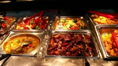 Chinese buffet Stock Footage