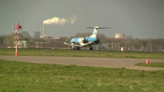 KLM thrust reverser Stock Footage