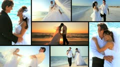 Luxury Island Wedding Montage Stock Footage