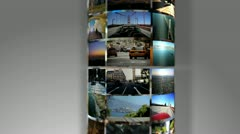 Revolving Montage 3D City Images, USA Stock Footage
