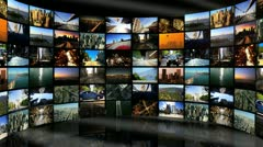 Montage Digital Wall Images City Travel Locations - stock footage