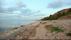 Pan shot of the Ilmen lake Stock Footage