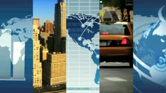 Montage Global Business Images, New York, USA - stock footage