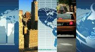 Stock Video Footage of Montage Global Business Images, New York, USA