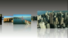 Montage of 3D American City Images - stock footage