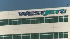 Westjet head office, tight frame - stock footage