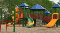 Kids running to playground Stock Footage