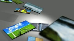 Montage 3D Tablets Featuring Clean Energy Production Stock Footage